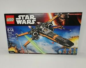 LEGO Star Wars 75102 Poe's X-Wing Fighter 100% Complete Mini Figures & Manual