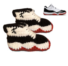 Girl Boy Shoes Crochet Baby Sneaker J Basketball Air Concord Red White Infant