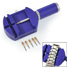 Bracelet Wrist Watch Band Adjuster Repair Tool Set Link Strap Remover + 5 Pins
