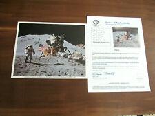 JIM IRWIN APOLLO 15 LOVE FROM MOON ASTRONAUT SIGNED AUTO NASA PHOTO ZARELLI LTR