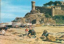 Costa brava one corner of beach postcard