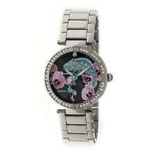 Bertha CAMILA WATCH CAMELEON Crystal Accented  SILVER NEW!! 6201