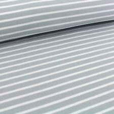 Biojersey - Streifen - Stoffonkel - grau weiß - Jersey Bio