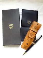 MCM visetos monogram pen & case for passport wallet bag backpack dog key charm
