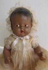 Black Americana Composition Baby Doll Vintage