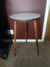 Mid Century Modern Tripod Table With Formica Top