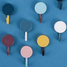 8Pcs Towel Hooks Plastic Wall Door Keys Hangers Hat Racks Hanger Self Adhesive a