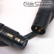 Canare L-4E6S Balanced XLR Audio Interconnect Cable 10m, Black