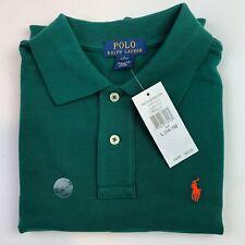 Boys Polo Ralph Lauren Size Large 14/16 Green Orange Pony Long Sleeve $45.00 New