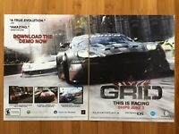 GRID PS3 Xbox 360 PC 2008 Vintage Poster Ad Print Art Official Promo Racing Rare