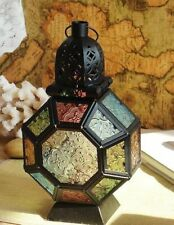 Vintage Hollow Hanging Candle Lantern Metal Glass Moroccan Wedding Home Decors