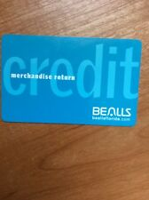 BEALLS STORES CREDIT CARD WITH $46.04 DOES NOT EXPIRES BALANCE DOUBLED CHECKED