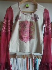 Neuf : Joli Top, manches longues, Marque Save the Queen,Taille M