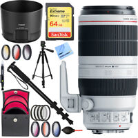 Canon EF 100-400mm f/4.5-5.6L IS II USM Lens 9524B002 with 77mm Filter 64GB Kit
