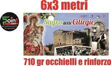 Striscione mt 6x3 Banner Pubblicitario PVC hi-quality 710 gr/mq stampa Inclusa!