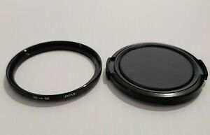 55-58mm Step-Up Lens Filter Ring & Cap- Made In Japan- Excellent condition