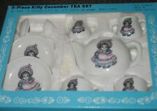 Rare Vintage Kitty Cucumber Tea Set