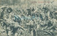 WW1 Liege Charge Of Belgian lancers battle scene ,Unposted