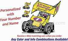 Sprint Car Race Decals USCS Trailer Truck Custom Decal
