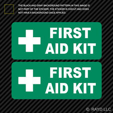 (2x) First Aid Kit Sticker Die Cut Decal Self Adhesive Vinyl emergency rescue