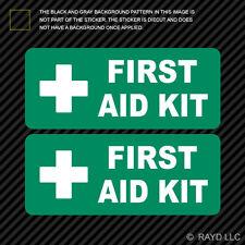 (2x) First Aid Kit Sticker Die Cut Decal Self Adhesive Vinyl emergency rescue