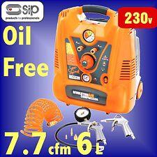 SIP 05293 SUPER SQUIRREL 2hp 6 Litre OIL FREE PORTABLE AIR COMPRESSOR 6L 7.7cfm