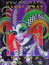 2002 Andrea Mistretta Mardi Gras MAMBO Art Print New Orleans Famous