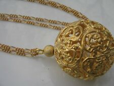 Edle Kette * vergoldet * FF Diamonds Halskette KUGEL Ornament durchbrochen NEU!