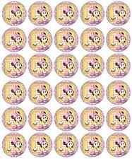 Minnie Mouse 1er Anniversaire Cupcake TOPPERS COMESTIBLES PAPIER acheter 2 obtenez 3e gratuitement!