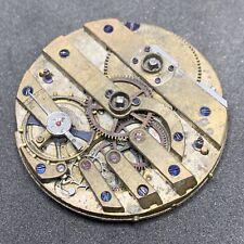 Swiss Pocket Watch Movement KWKS 3 Finger Bridge 36 Mm Parts Repair F2832