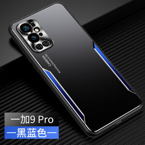 For OnePlus 9 Pro Luxury Shockproof Metal Aluminum Hybrid Soft Bumper Cover Case