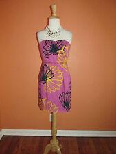 Sariah for Anthropologie Size 2 Agave Burst Strapless Floral Print Dress