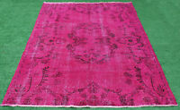 Turkish Rug 69''x99'' Handknotted Fuschia Color Transition Modern 5'7''x8'3''