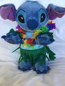 Disney Lilo Stitch Hula Dance Stitch Plush Toy Dancing Grass Skirt DNC Talking C