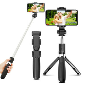 Wireless Bluetooth Selfie Stick Phone Holder Shutter Remote Extendable Tripod