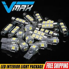 6 x Xenon White Car Interior LED Lights Package Kit Fit 2004-2006 Nissan Sentra