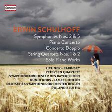 Erwin Schulhoff : Erwin Schulhoff: Symphonies Nos. 2 & 5/Piano Concertos/... CD