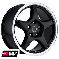 """Chevrolet Corvette Wheels C4 ZR1 Black Rims 17 inch 17x9.5"""" fit C4 1988-1996"""