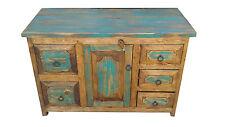 """Rustic Reclaimed Turquoise Wood  Bathroom Vanity 48"""" wide"""