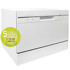 MyAppliances ART28008 Freestanding Table Top 6 Place Setting Dishwasher in White