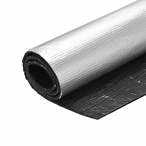 Insulation Sheet 1mx1mx5mm Adhesive Thermal Barrier Roof Wall HVAC Pipe Duct