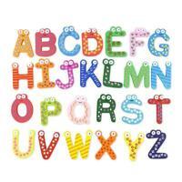 3Pcs Wood Cute Fridge Magnet Alphabet Animal Number Early Educational Baby Toys