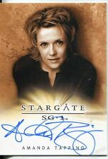 Stargate SG-1 Season 10 Autograph Amanda Tapping as Samantha Carter