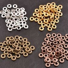 100Pcs Tibetan Silver Charms Spacer Beads For Jewelry Findings 6MM DIY F1