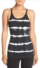 Hard Tail Tie-Dye Stripe Camisole- Large-Electric Black/ White/ Taupe- $75