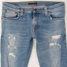Mens Nudie TIGHT LONG JOHN Stretch Slim Skinny Blue Jeans W33 L32