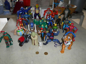 lot figurines star wars, marvel tintin ect...