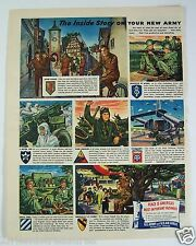 US Army & US Air Force Recruiting Print Ad The Inside Story 1949 Canada Vacation