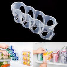 Beer Soda Can Storage Holder Kitchen Fridge Space Saver Organizer Rack Plastic