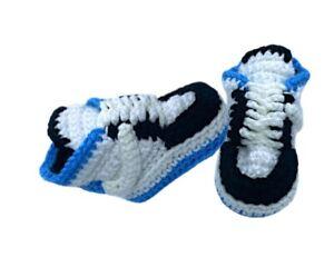 Crochet Baby Sneaker Air Low J Basketball Blue White Black J Retro 1 TS Shoes